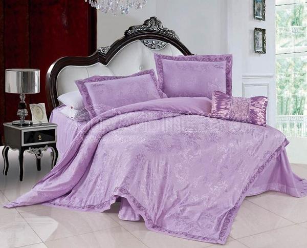 欧式别墅女生卧室紫色